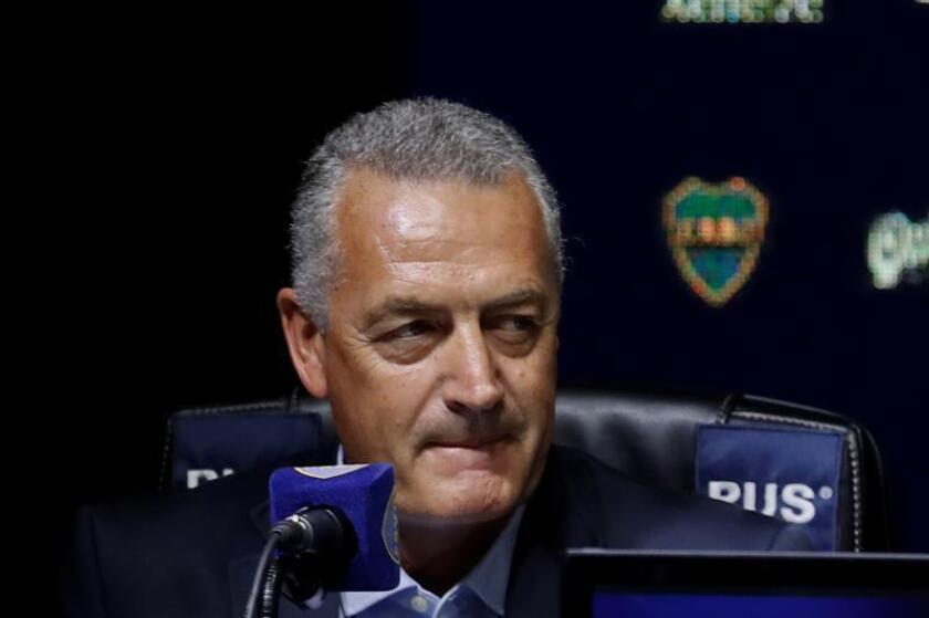 Gustavo Alfaro, entrenador argentino del Boca Juniors. EFE/Archivo