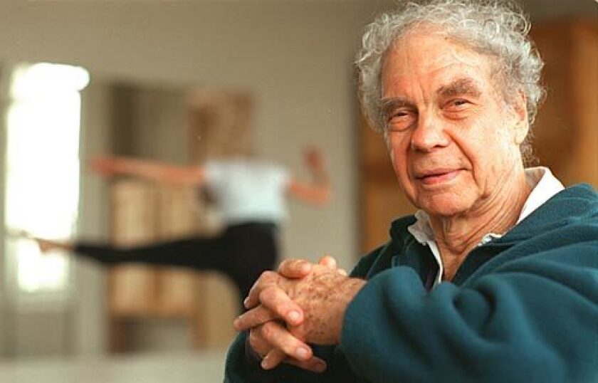 """Merce Cunningham at dance studio in New York's West Village. """"Dancing is a spiritual exercise in physical form,"""" Cunningham wrote in 1952."""