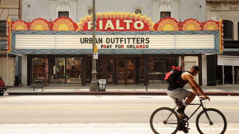 Former Rialto Theatre (now an Urban Outfitters store)