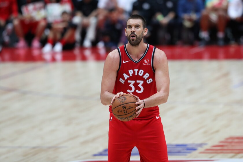 Might the Raptors be willing to listen to trade proposals for center Marc Gasol?