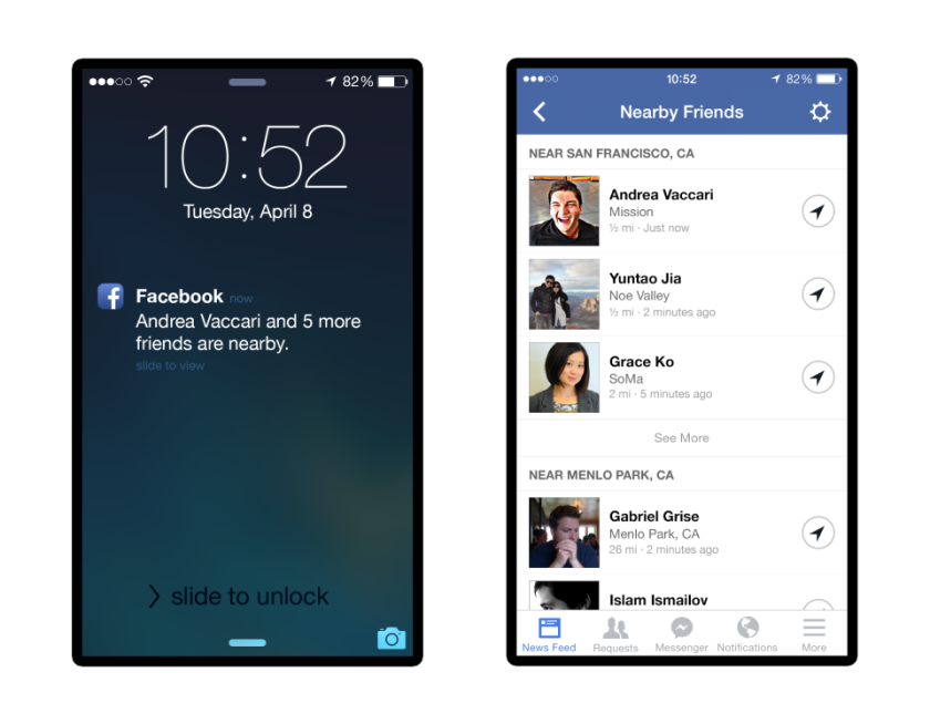 Facebook will let you know where your friends are.