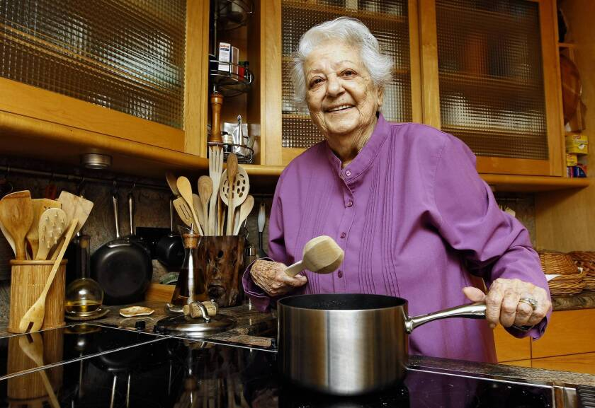 Marcella Hazan in her Florida kitchen in 2012. She was revered in the food world and beloved by home cooks who found her recipes to be both doable and delicious.