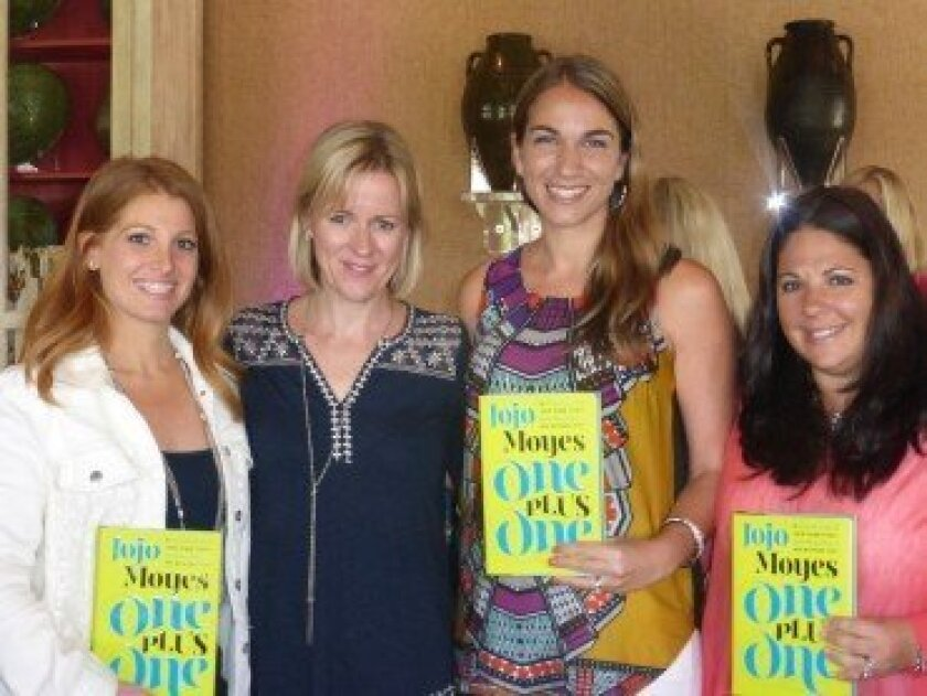 At the luncheon: (L-R) Marci Laulom, Jojo Moyes, Debbie Sigal, Veronica Leff. Photo by Lois Alter Mark