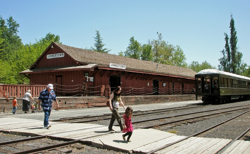 The Railtown 1897 State Historical Park, in Jamestown, Calif., offers scenic train rides.