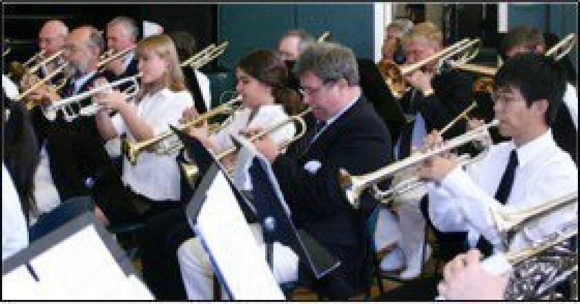 Approximately 30 musicians from the San Dieguito Union High School District, chosen by their band directors, will join the Coastal Communities Concert Band for a concert of popular music on April 29 at San Dieguito Academy in Encinitas.