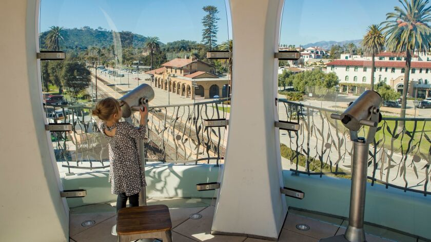 The Sky Garden on the roof at Santa Barbara's MOXI, the Wolf Museum of Exploration + Innovation, features a Lookout Tower. The museum opened Saturday.