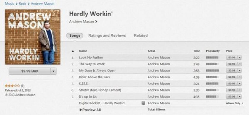 "Andrew Mason, founder and former CEO of Groupon, released his album ""Hardly Workin'"" on Tuesday."