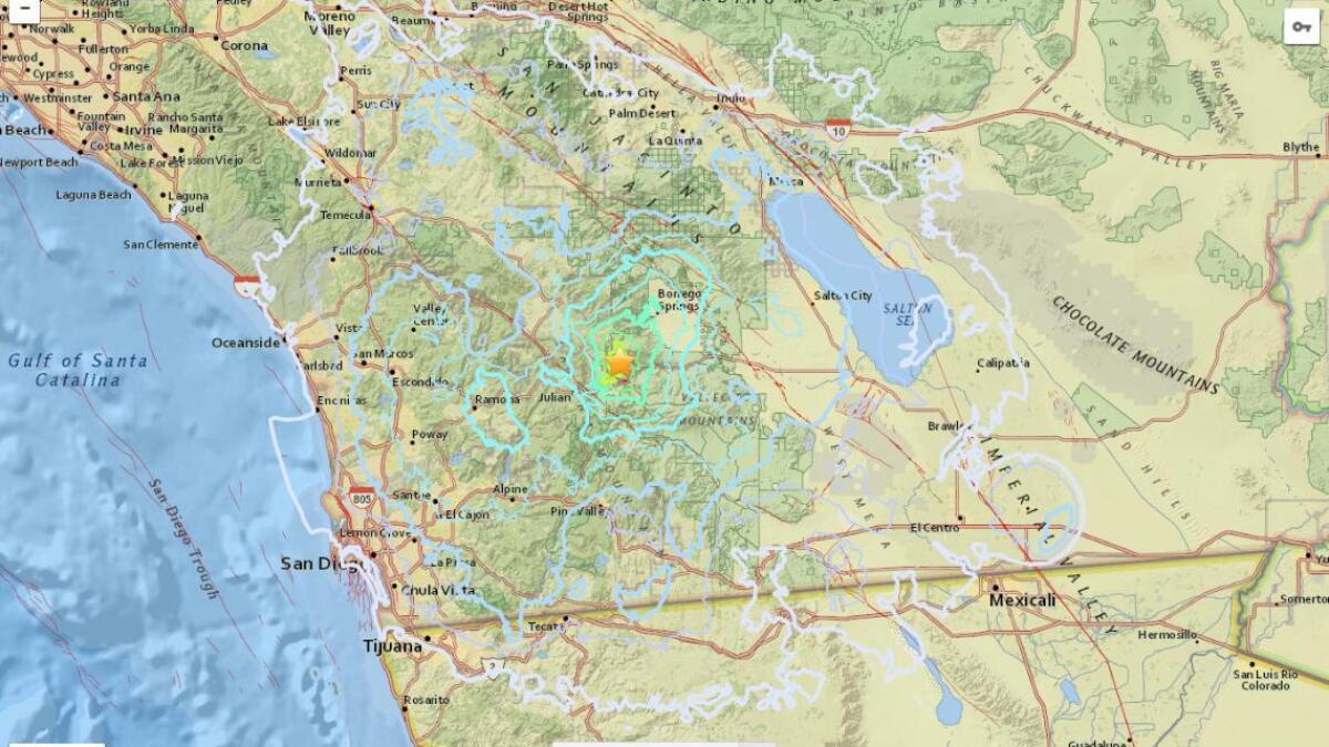 Odd series of small earthquakes jostle Julian area - The San