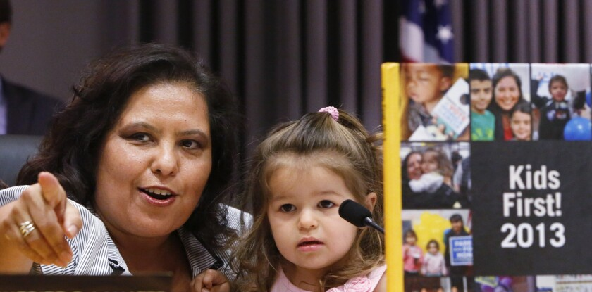 Monica Garcia is trying to get the next phase of a $1-billion iPad plan passed by the Board of Education on Tuesday.