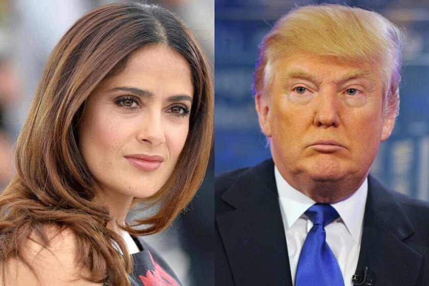 """La actriz mexicana Salma Hayek dijo hoy que no duda """"ni por un instante"""" que Donald Trump, candidato republicano a la Casa Blanca, llevó a cabo los abusos sexuales que varias mujeres han denunciado públicamente en las últimas semanas."""