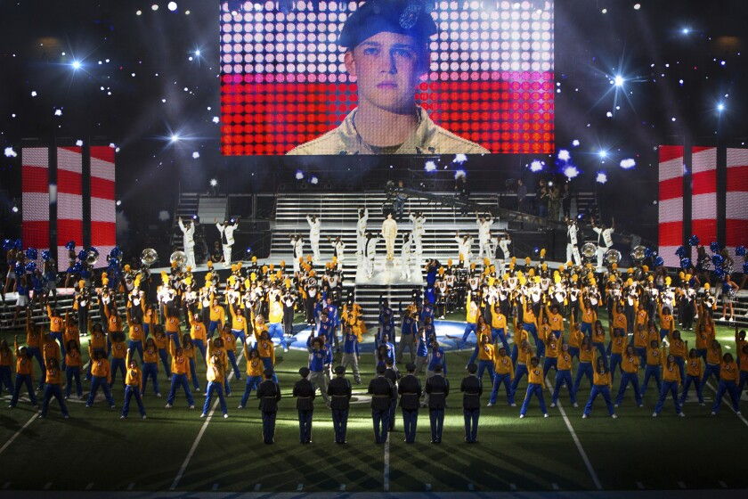 A shot from Ang Lee's technically groundbreaking 'Billy Lynn's Long Halftime Walk.'