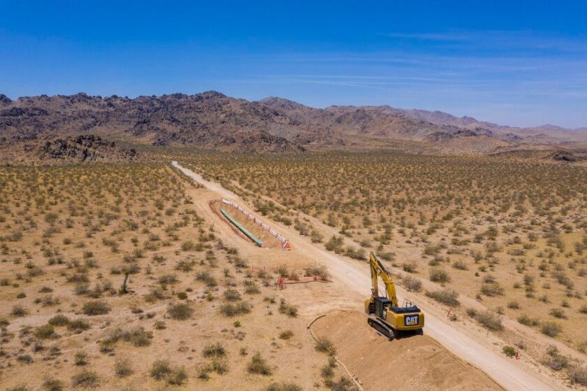 Repairs continue on Southern California Gas Co.'s Line 235, south of Barstow, Calif.