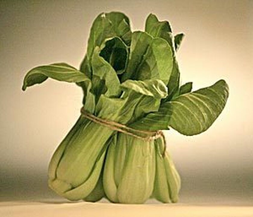 IN SEASON: Chinese cabbages such as baby bok choy.