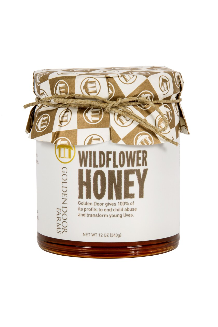 Among the artisan products from Golden Door for sale on HSN is the wildflower honey,  made from bees on the resort property.