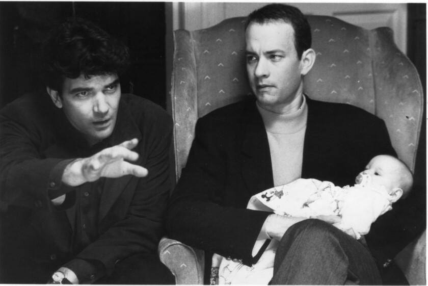 "Tom Hanks, right, and Antonio Banderas in 1993's ""Philadelphia."""