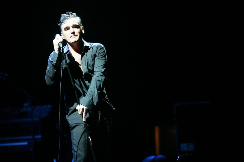 Morrissey performs in 2006.