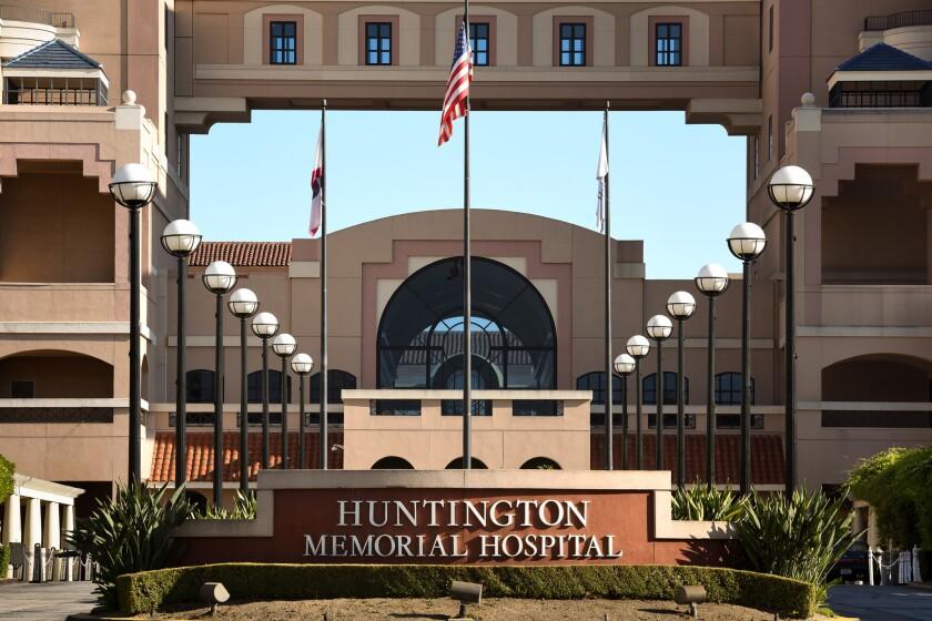 Huntington Memorial Hospital in Pasadena.