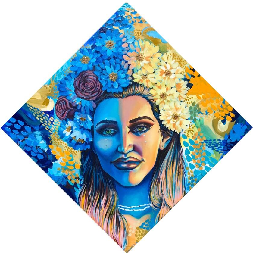 Marina's self portrait won the Congressional Art Award.