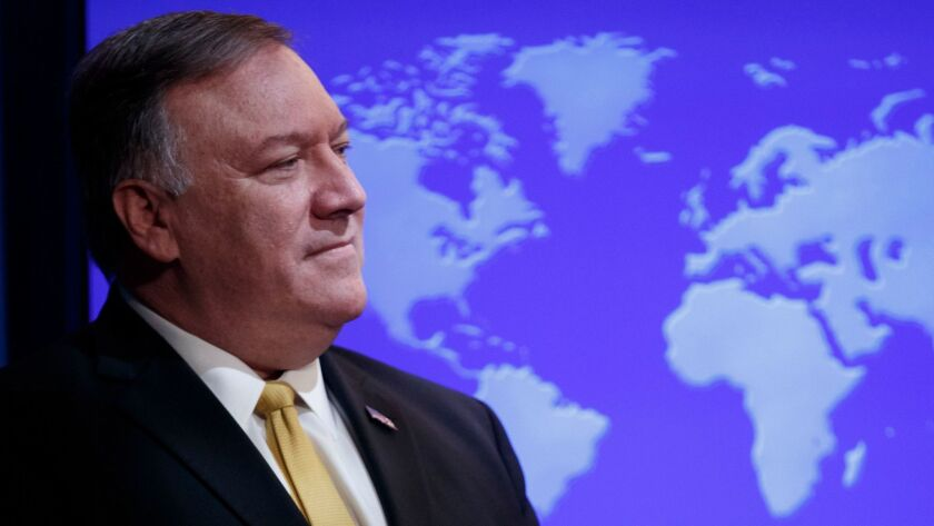 Pompeo announces the formation of an advisory commission on human rights, Washington, USA - 08 Jul 2019
