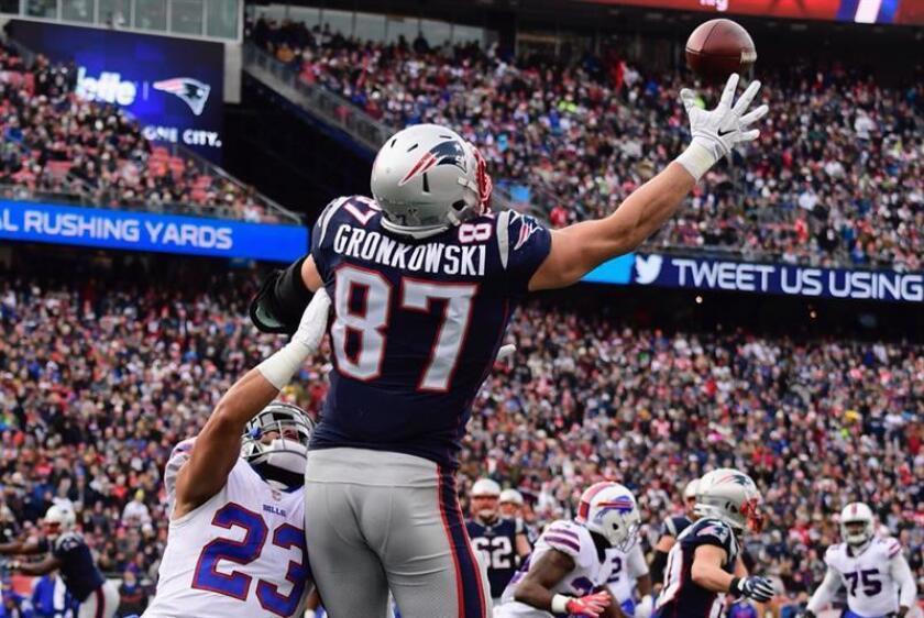 El jugador de los Patriots de Nueva Inglaterra, Rob Gronkowski. EFE/Archivo