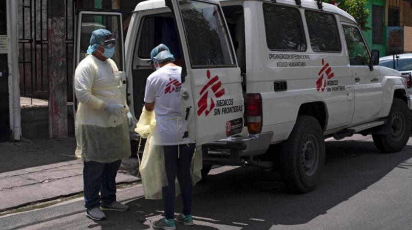 magen de referencia, una ambulancia de Médicos Sin Fronteras fue atacada por supuestos pandilleros en Ilopango . Foto Archivo