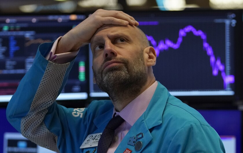 Dow plunges 1,800 as investors turn jittery over new wave of ...