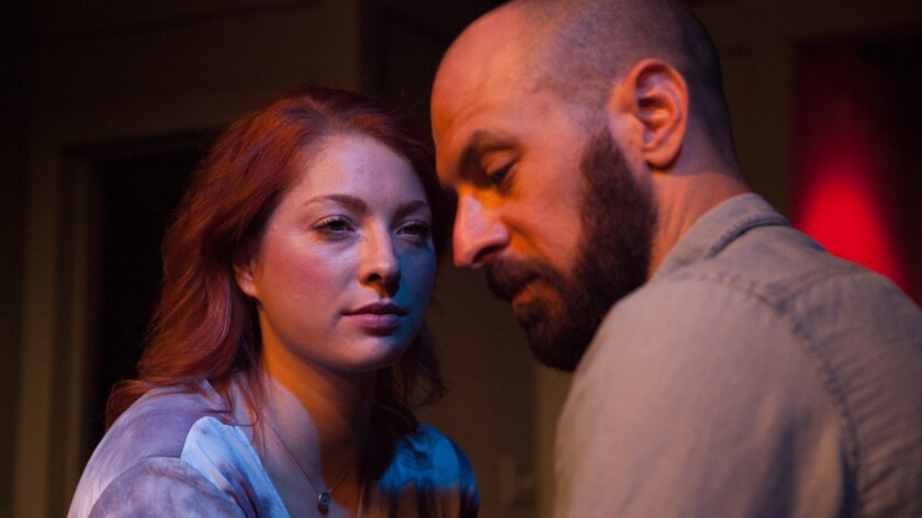 "Kate Spare and Adam Mervis in ""The Portman Delusions,"""