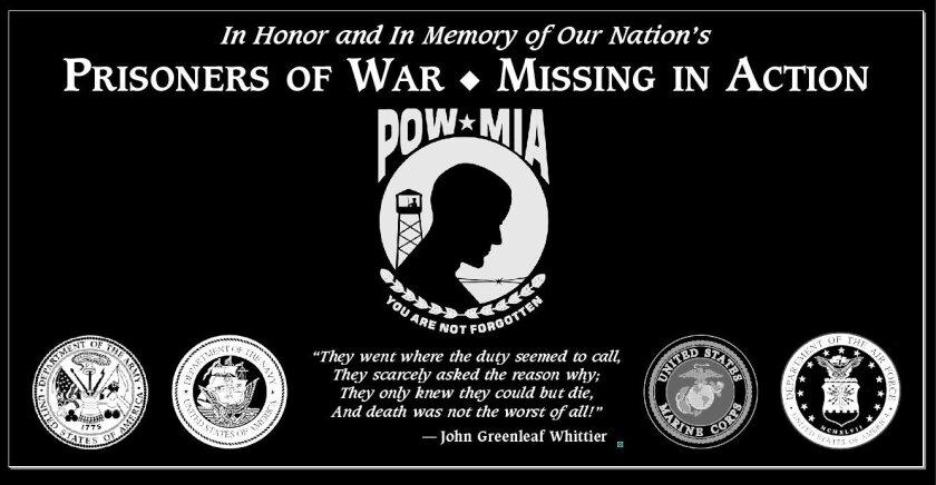 The plaque honoring POWs and MIAs at Mt. Soledad Memorial.