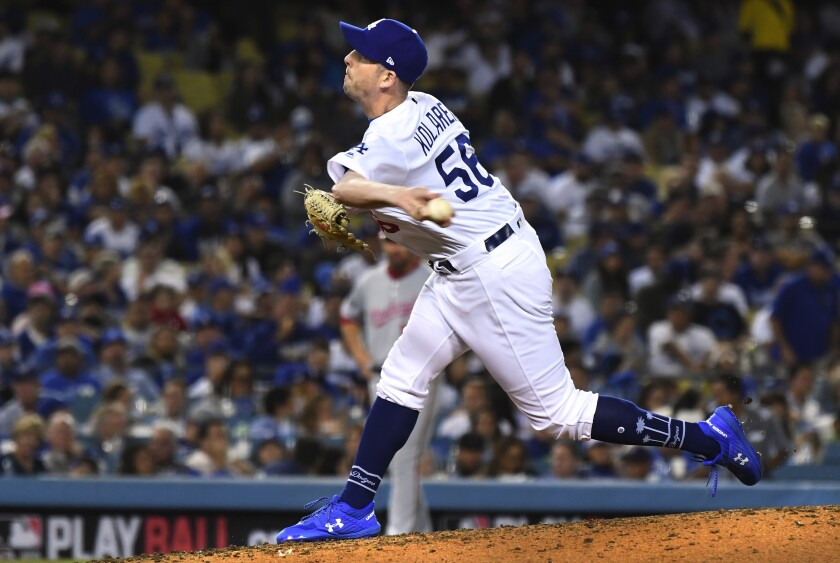 Adam Kolarek's role out of the Dodgers bullpen will see some changes this season thanks to baseball's new three-batter rule.