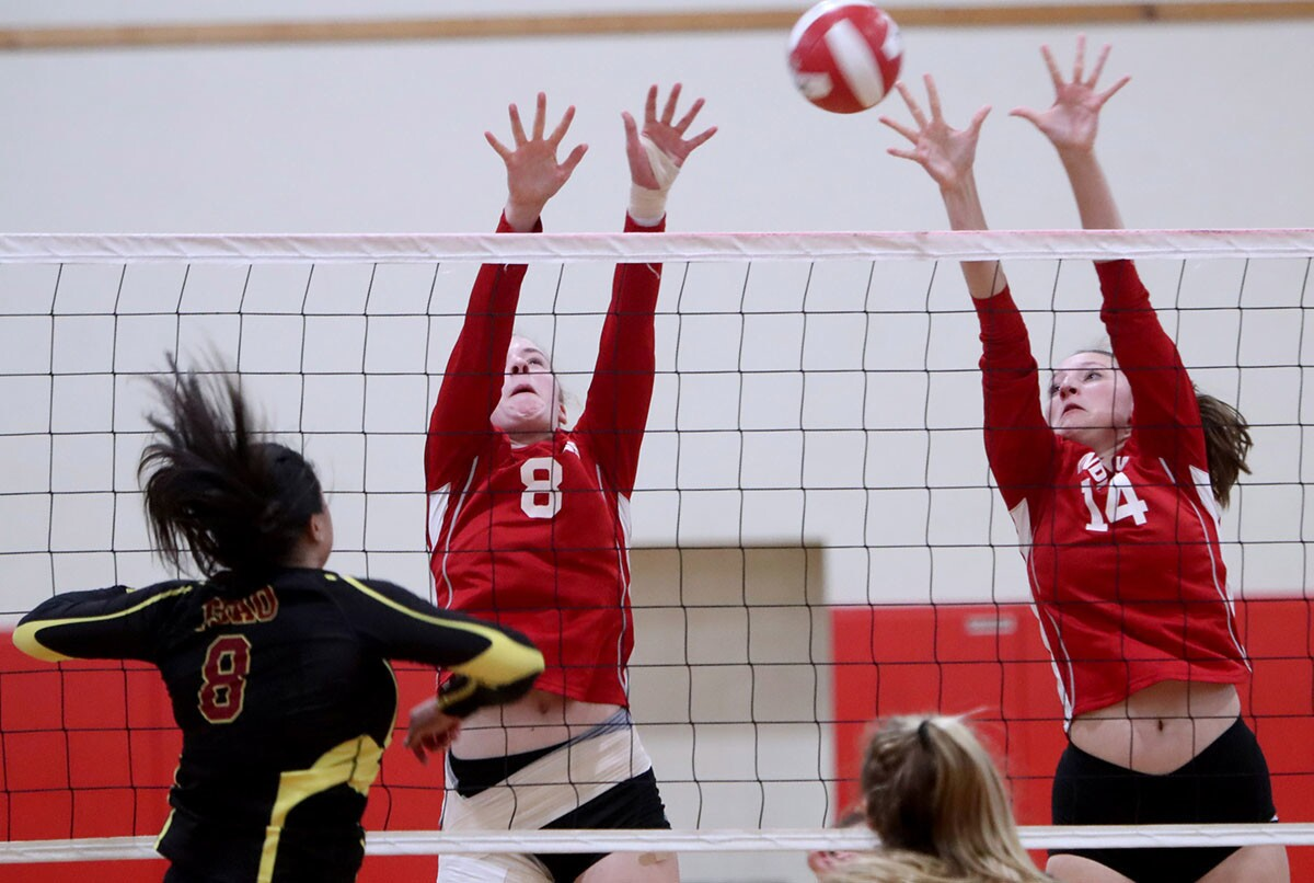 Photo Gallery: Burroughs High girls volleyball vs. Arcadia High