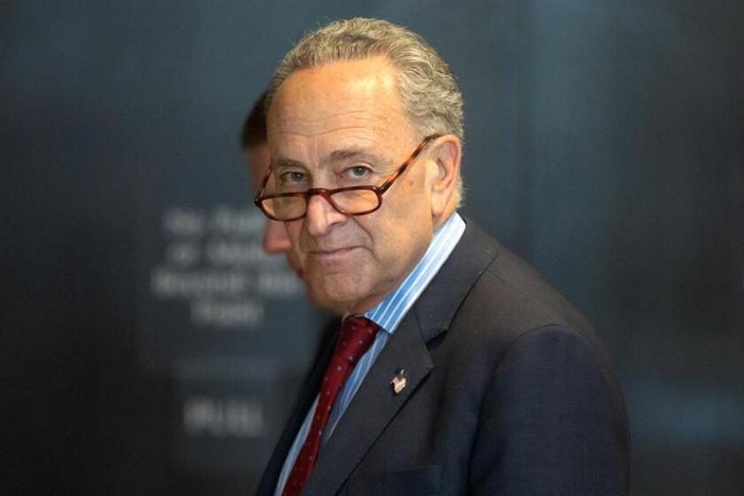 El líder de la minoría demócrata del Senado de EEUU, Chuck Schumer. EFE/Archivo