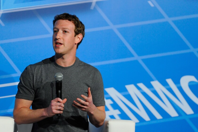 Getting into your head more than you thought: Facebook Chairman and CEO Mark Zuckerberg.