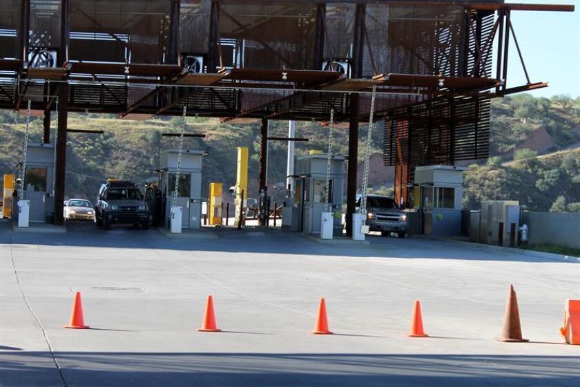 Vista de frontera en la Garita de Nogales, Arizona. EFE/Archivo