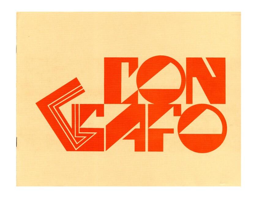 """The cover of """"Con Safo,"""" 1970, an artist book by Mel Casas."""