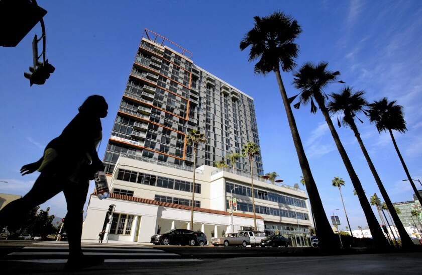 The landlord has been ordered to evacuate the Sunset and Gordon project in Hollywood.