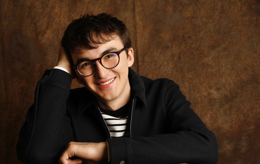 LOS ANGELES, CA - APRIL 22, 2019 - Isaac Hempstead Wright who plays the part of Bran Stark, the youn