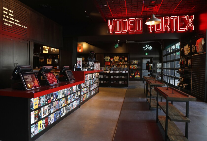 The entry lobby of the new Alamo Drafthouse LA
