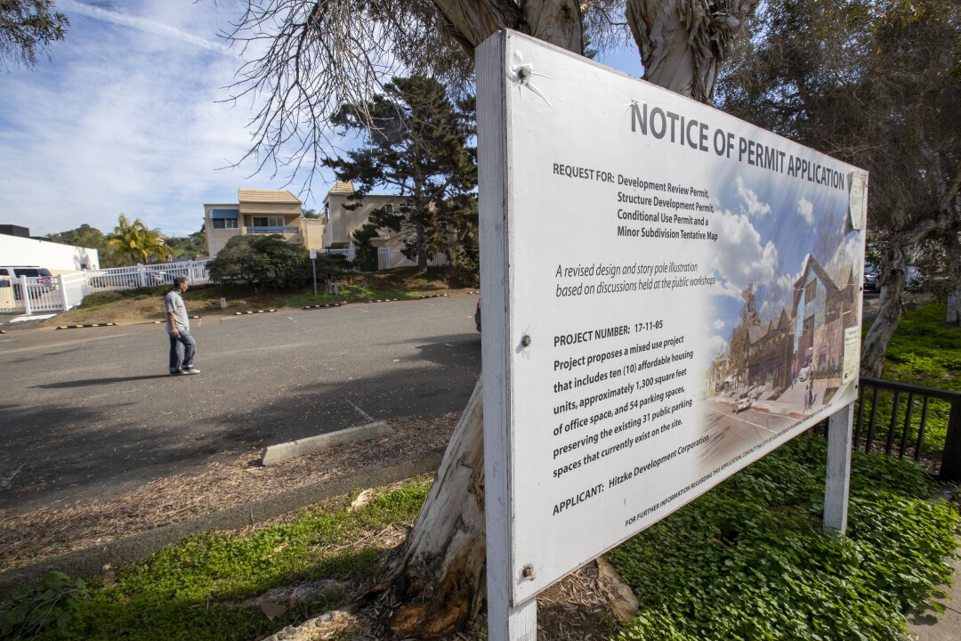 Proposed affordable housing project in Solana Beach.