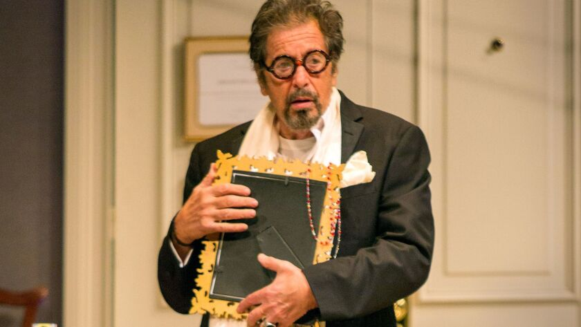 """Al Pacino plays Tennessee Williams in """"God Looked Away"""" at the Pasadena Playhouse."""