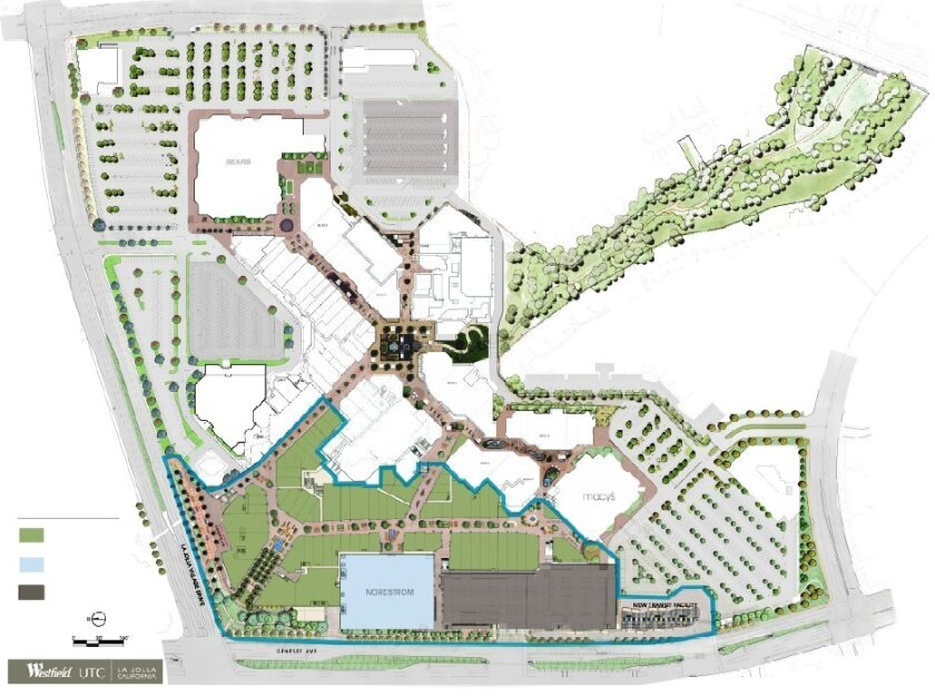 Westfield UTC master plan for Phase 2 of expansion.