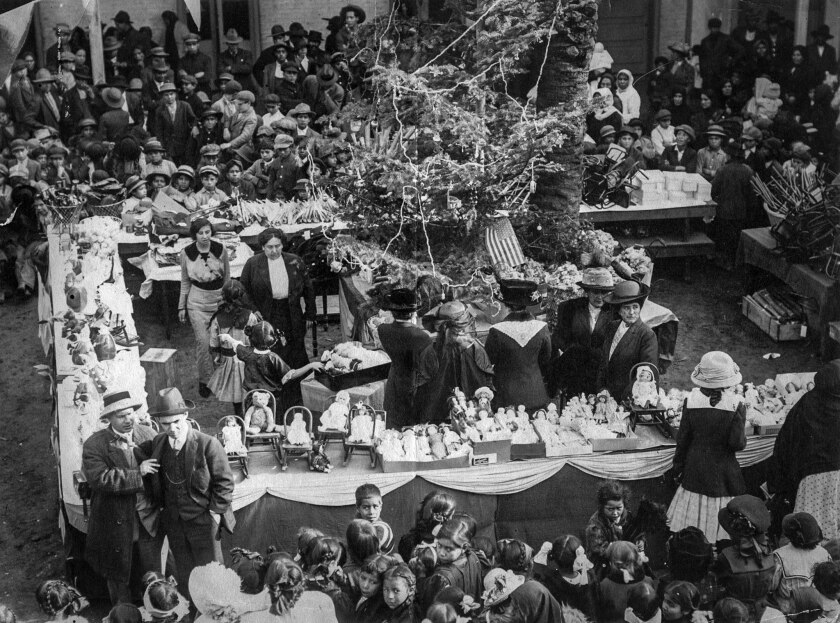 Jan. 3, 1914: Two thousand Mexican-American children receive gifts at the rectory at Old Plaza Churc