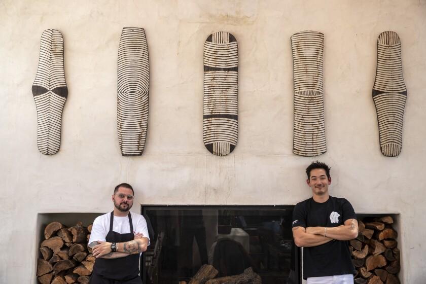 Élephante chef Phil Rubino and executive chef Thomas Lin