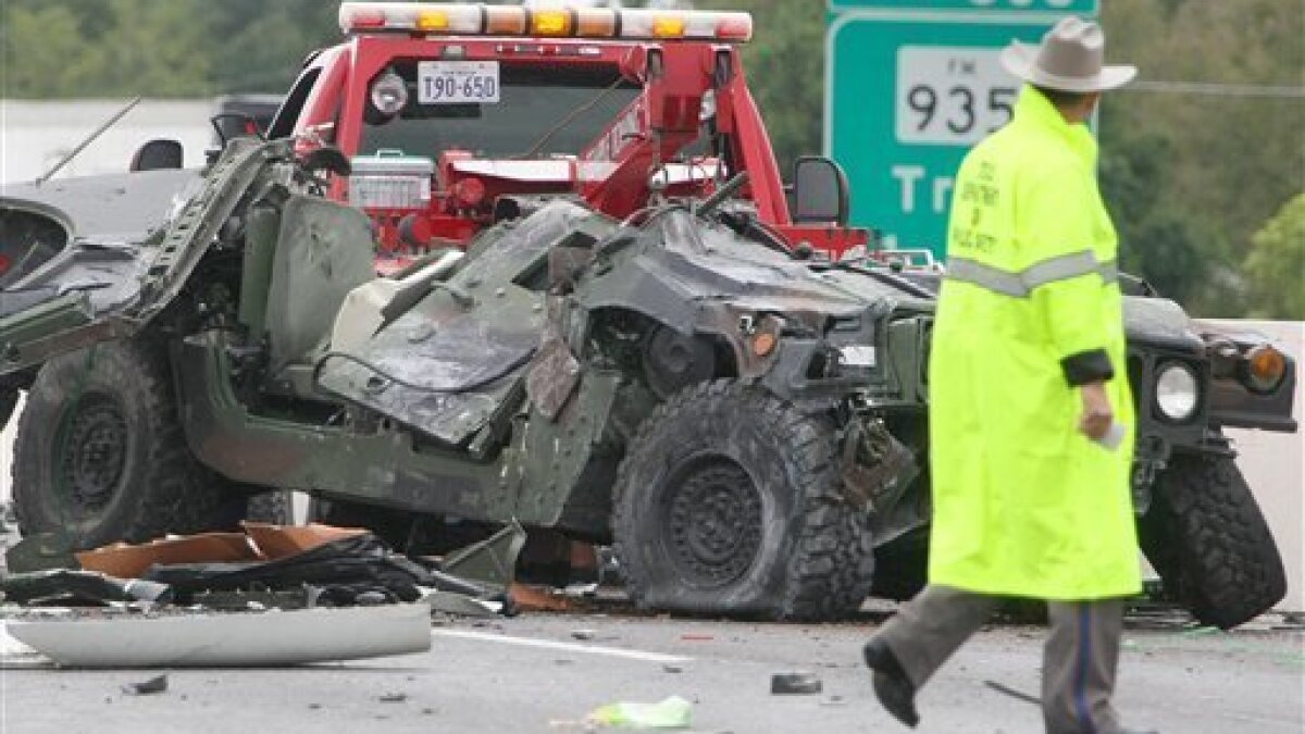 3 killed when Guard Humvee crashes on Tex  highway - The San