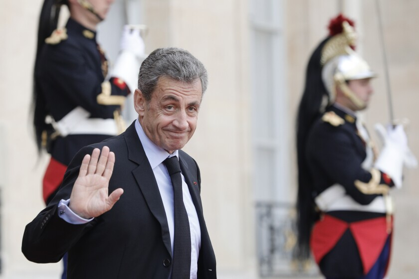 Former French President Nicolas Sarkozy on Sept. 30, 2019 in Paris.