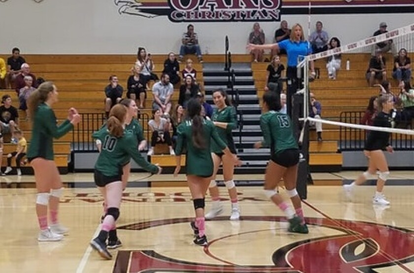 Sage Hill Girls Volleyball Beats Oaks Christian In Cif Division 3 Wild Card Round Los Angeles Times