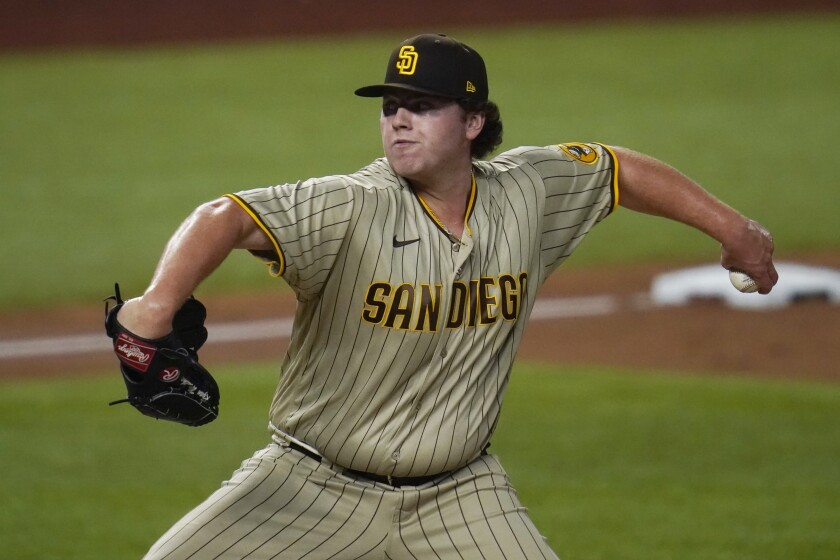 San Diego Padres relief pitcher Ryan Weathers