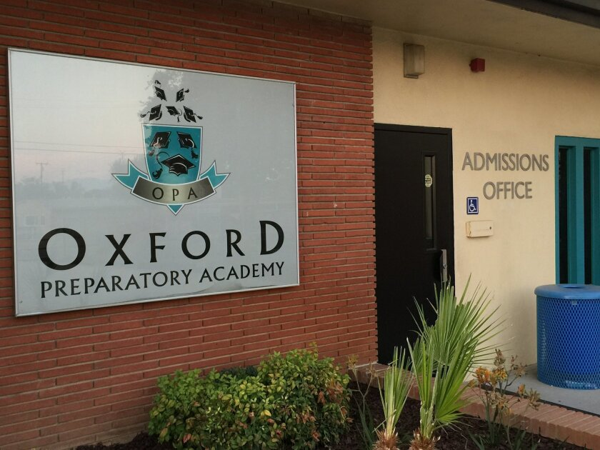 Oxford Preparatory Academy, a Chino-based charter school, is trying to expand to North County and South Orange County.