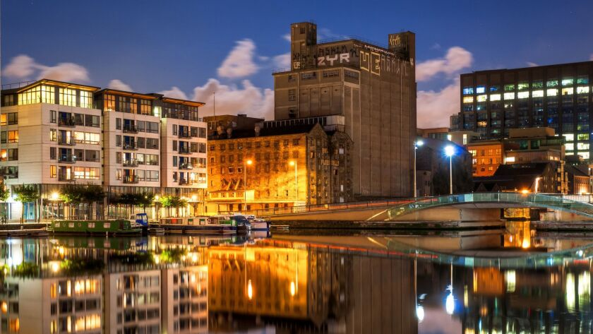 Grand Canal Dock, Dublin, Ireland, is part of a redevelopment project.