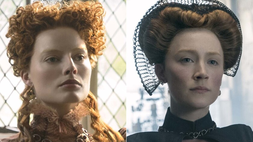 "Margot Robbie and Saoirse Ronan co-star as monarchs in ""Mary Queen of Scots."""