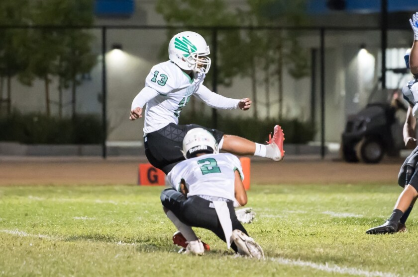 Kicker Juan Hernandez, who also was a captain for the Eagle Rock soccer team, died in an apparent drowning Sunday in the Tule River just outside of Springville.